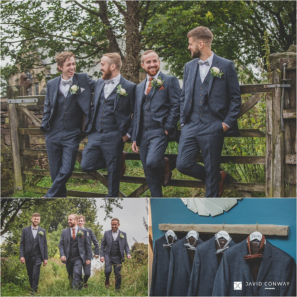 Holmfirth-marquee-wedding-photography-groomsmen-suits-Slaters-menswear