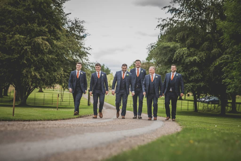 Saltmarshe-hall-groomsmen-walking