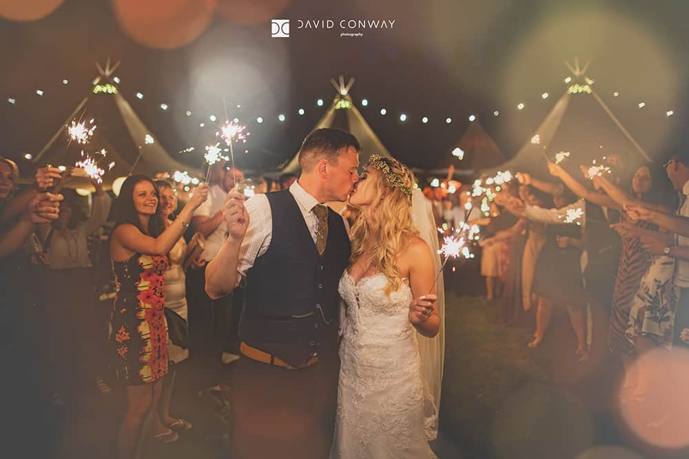 West-yorkshire-wedding-photographer-bride-and-groom-romantic-sparkler-kiss-night-photography